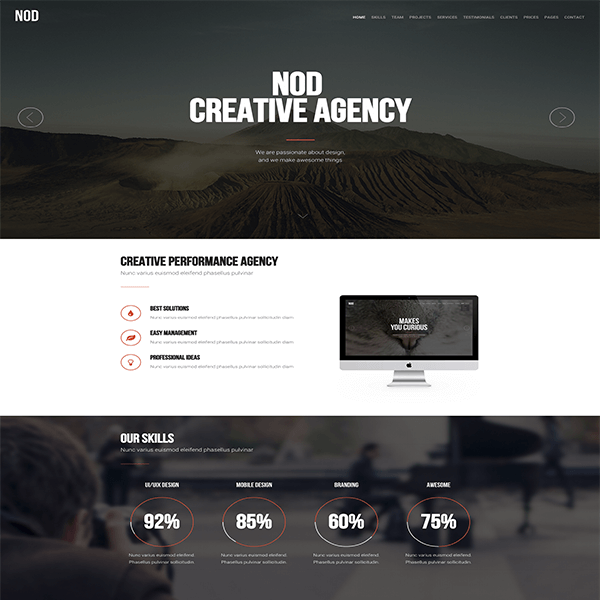 NOD Business Landing Page HTML Template FlyTemplates Modern - Wordpress landing page template