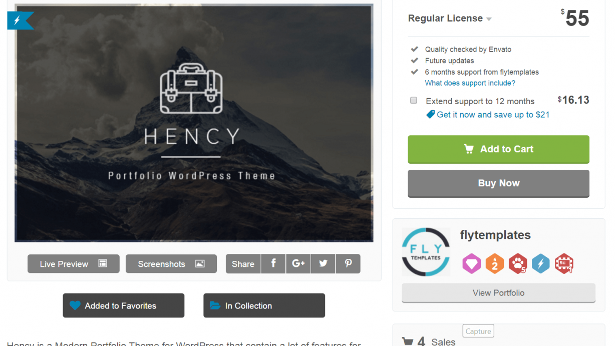 Hency - WordPress Theme is in trending